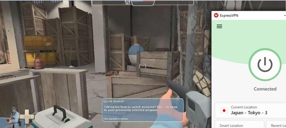Expressvpnを使用してSteamでTeam Fortress 2をプレイする
