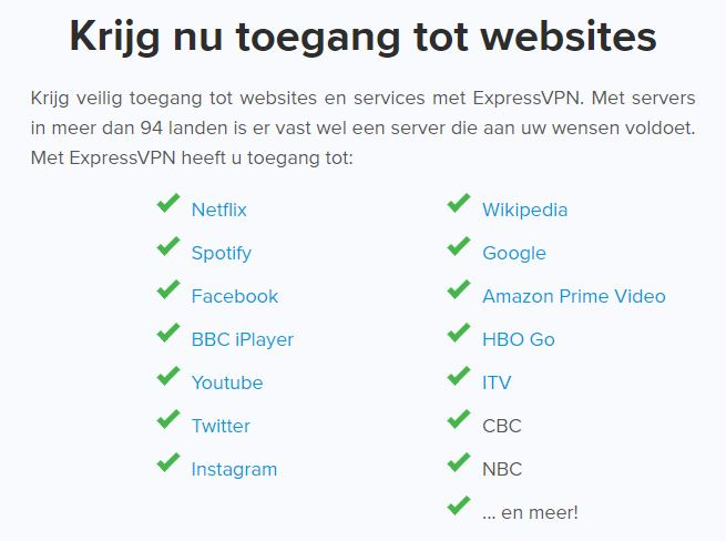ExpressVPN streams with - Netherlands