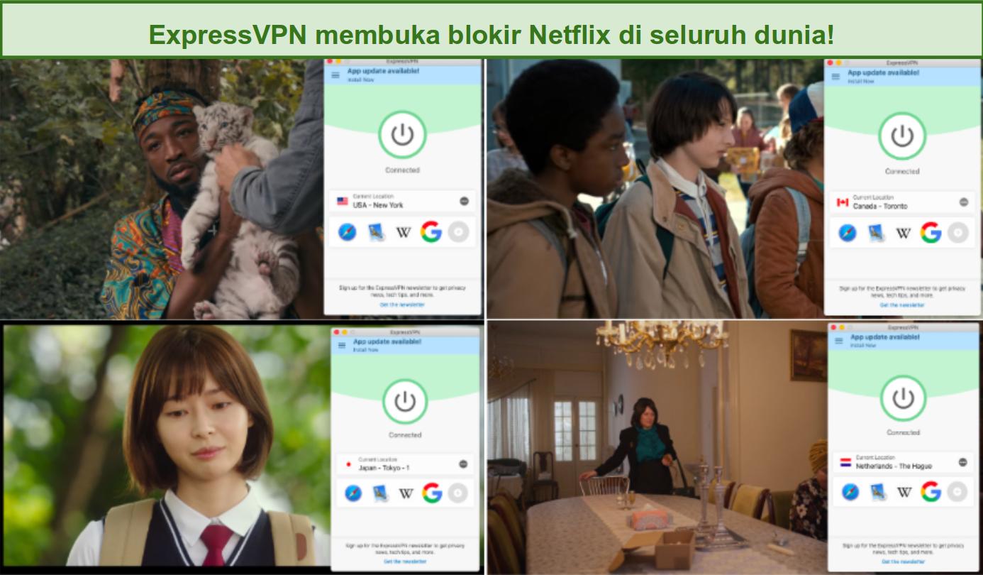 ExpressVPN Membuka Blokir Netflix di seluruh dunia