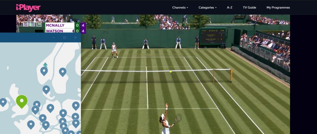 Watch Wimbledon on BBC iPlayer with NordVPN