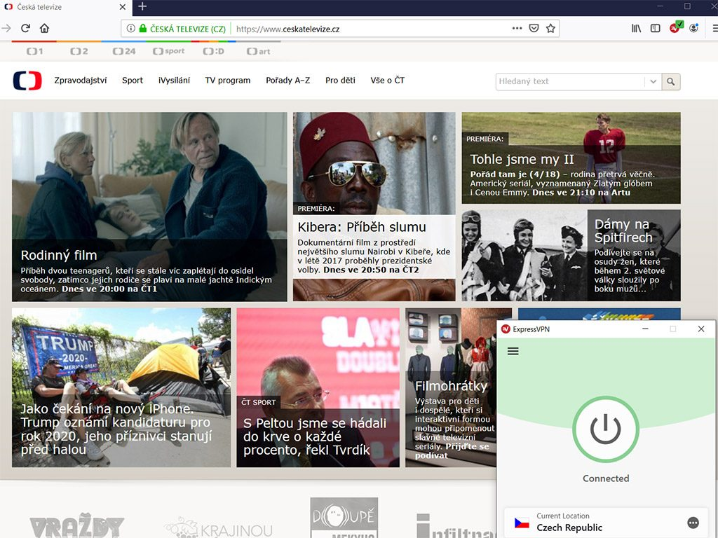 Ceska Televize watch online vpn