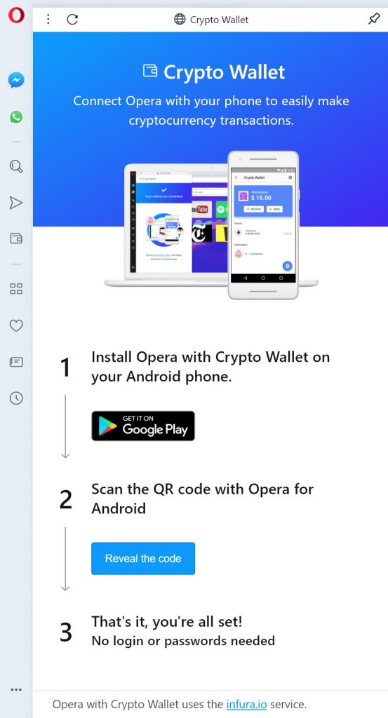 Opera Crypto Wallet vpn