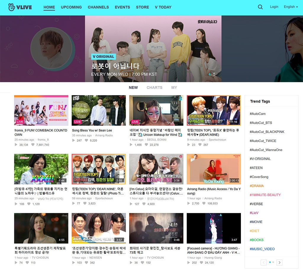 V Live TV Korea watch from anywhere vpn