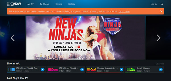 9now watch online with vpn