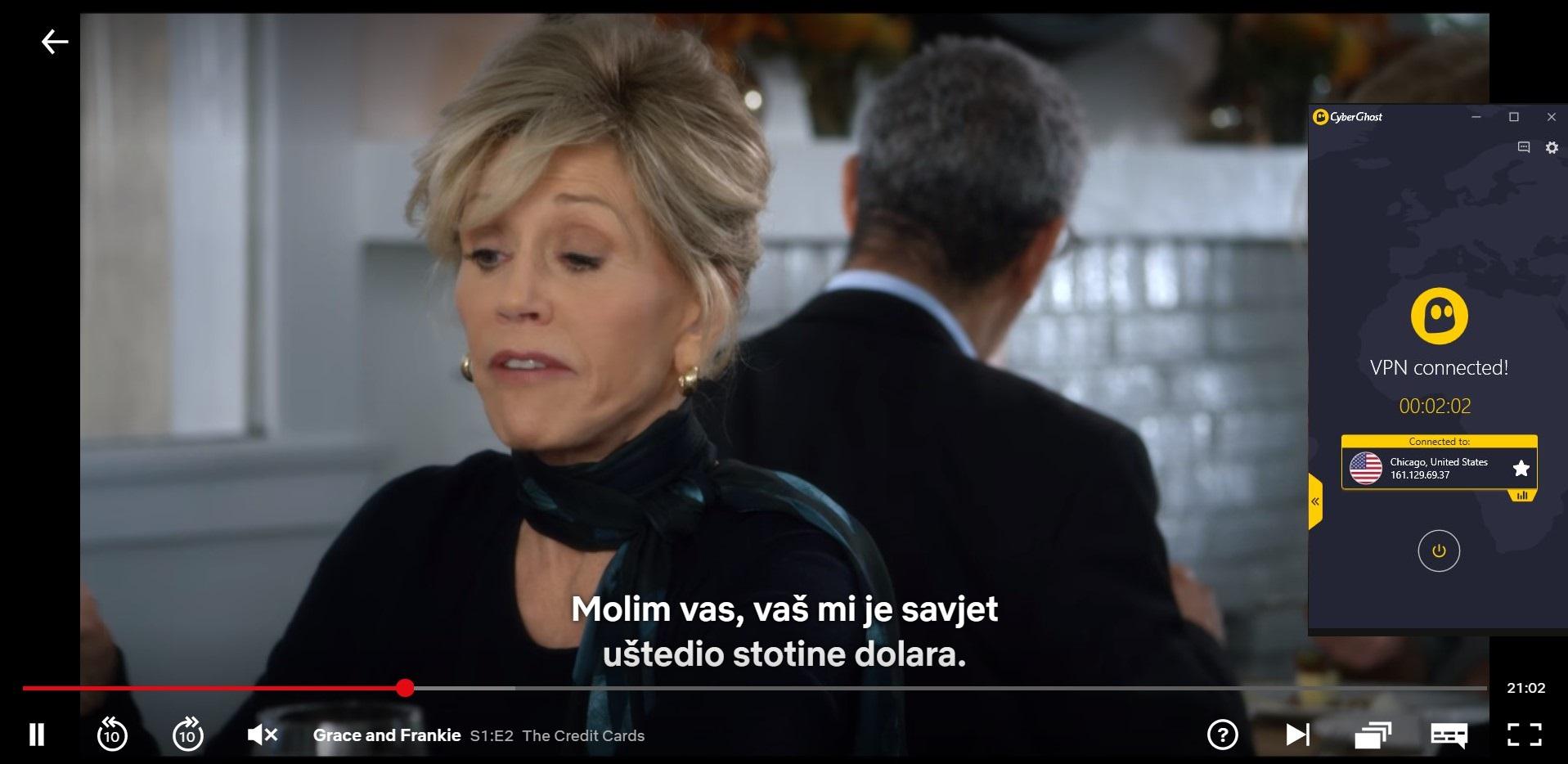 Streaming Netflix sa CyberGhostom
