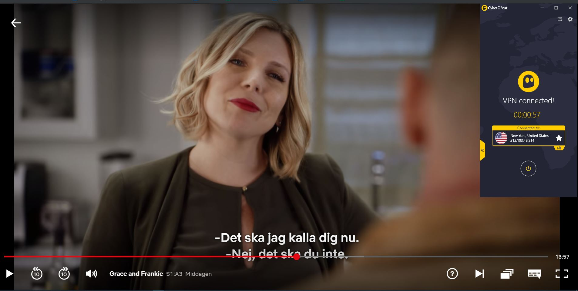 strömma Netflix med CyberGhost