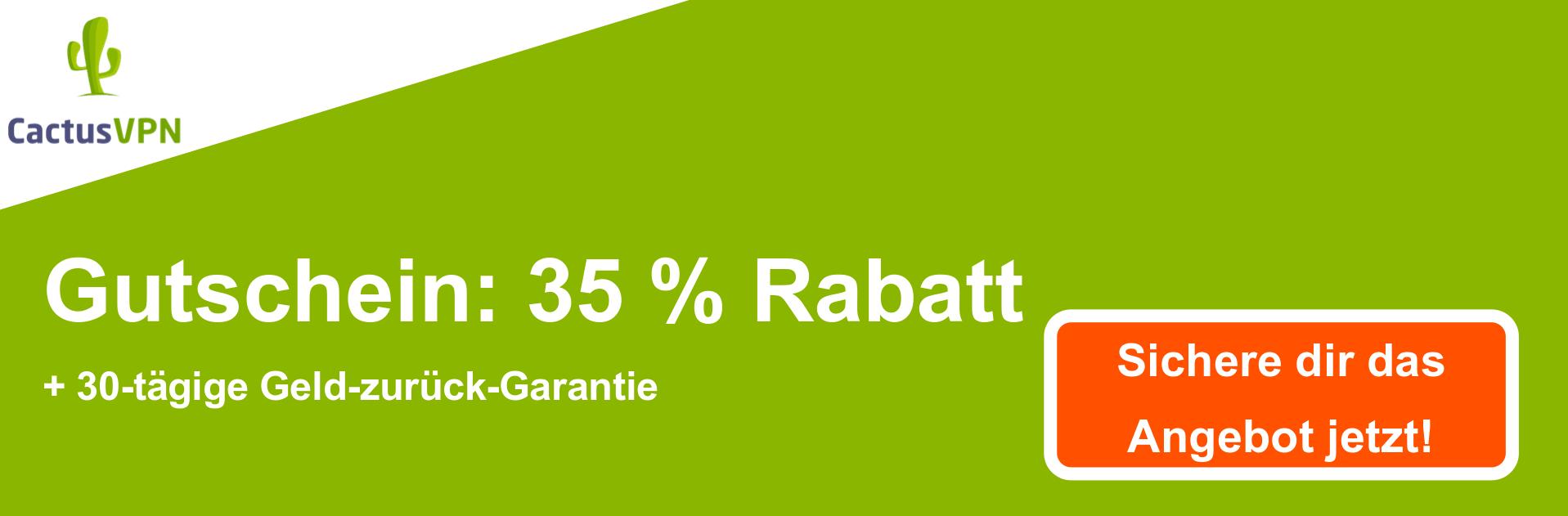 CactusVPN Coupon Banner - 38% Rabatt