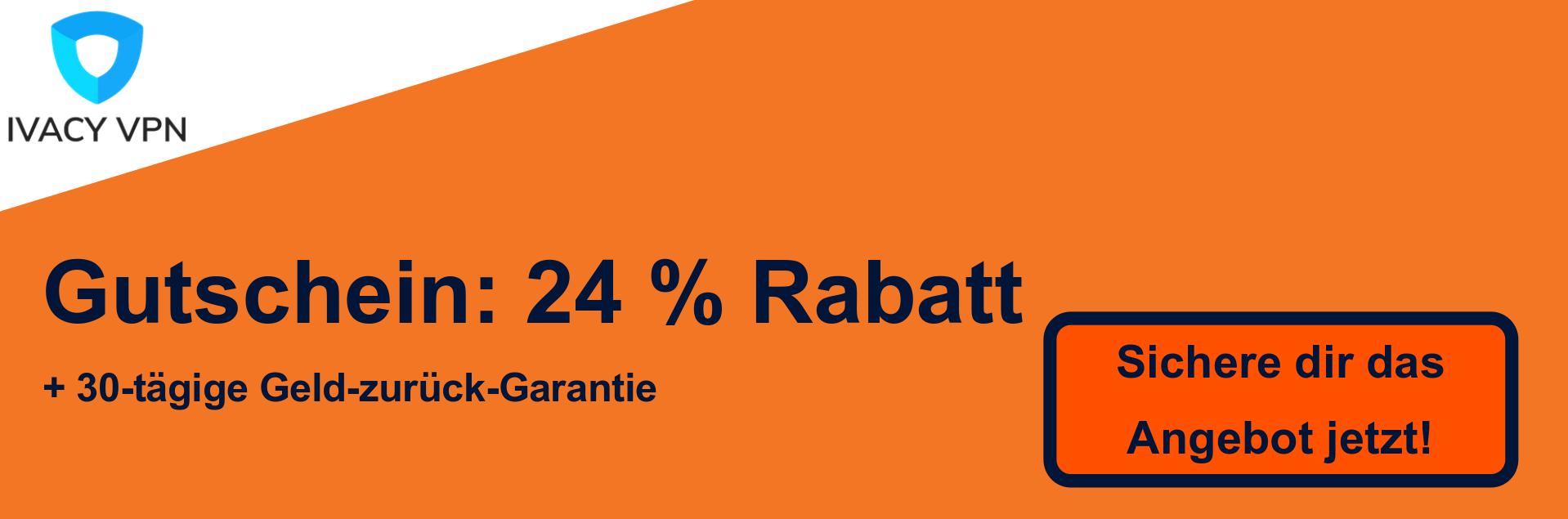 Ivacy VPN Coupon Banner - 24% Rabatt