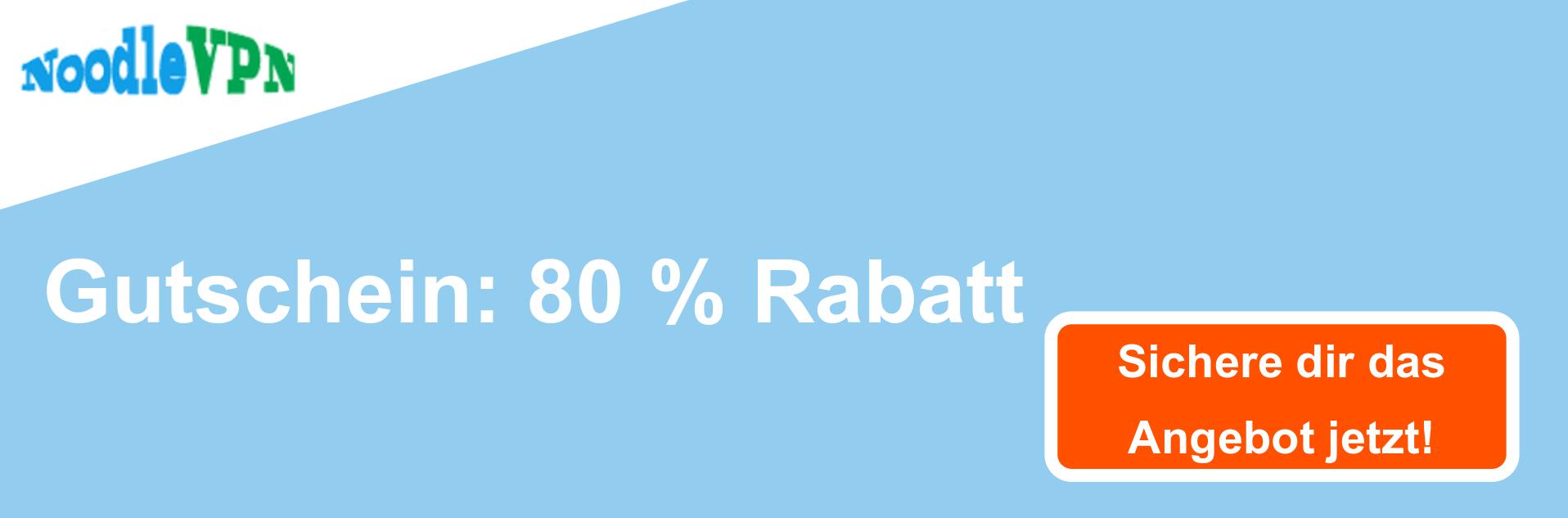 NoodleVPN-Gutscheinbanner - 80% Rabatt