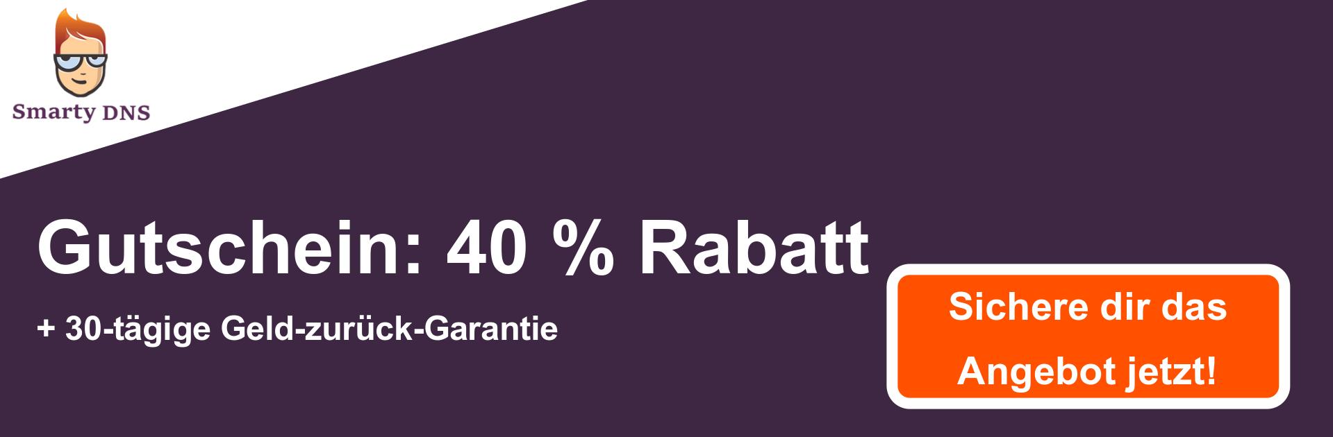 SmartyDNS-Gutscheinbanner - 40% Rabatt