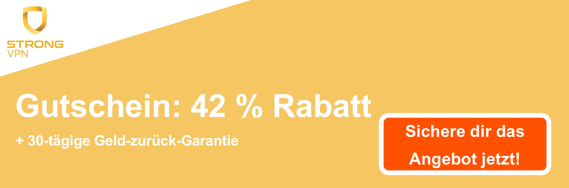 StrongVPN Coupon Banner - 42% Rabatt