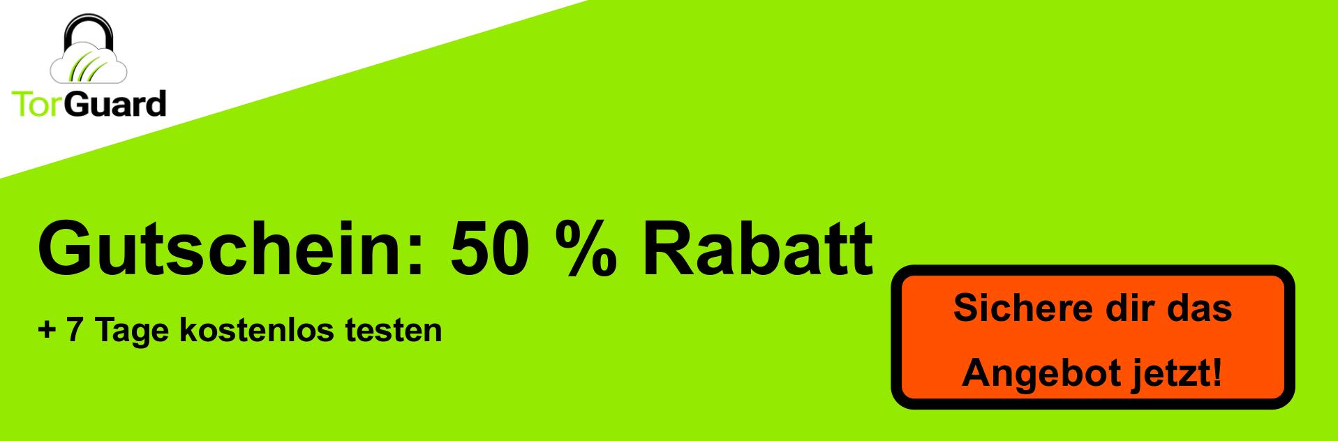 TorGuard VPN Coupon Banner - 50% Rabatt