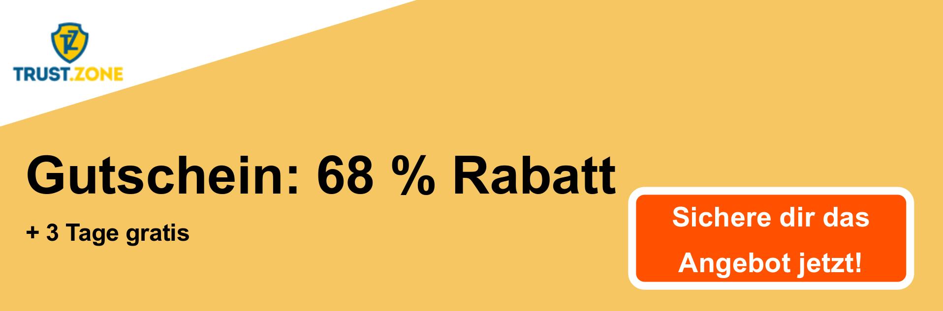 Trust.Zone VPN Coupon Banner - 68% Rabatt