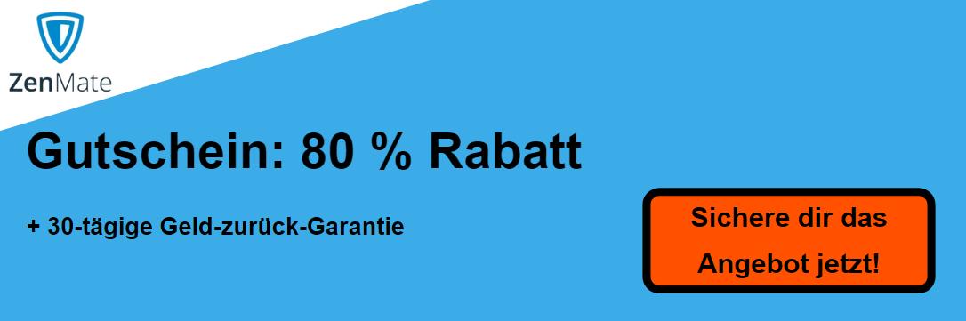 ZenMate Coupon - 80% Rabatt