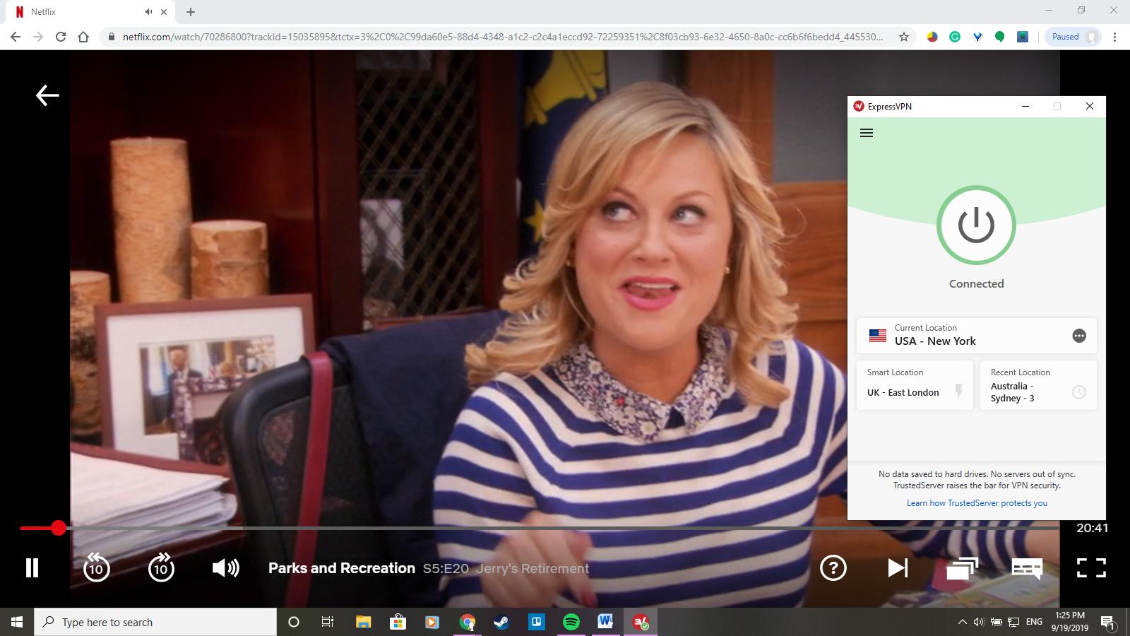 "oglądanie ""Parks and Recreation"" za pomocą ExpressVPN"