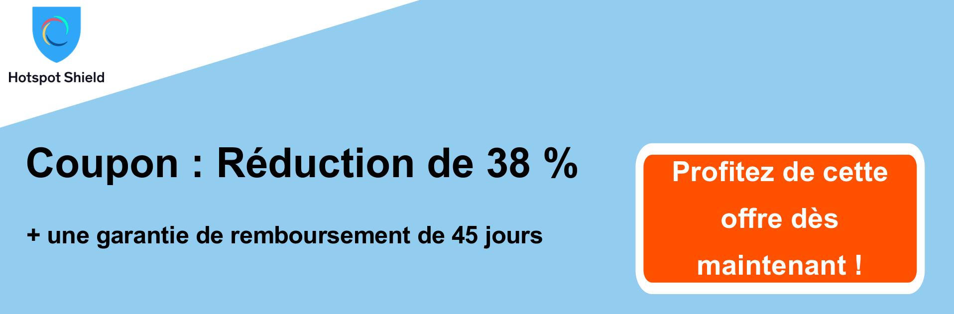 -38% sur la bannière du coupon HotspotShield VPN