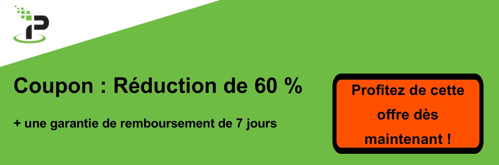 Bannière de coupons IPVanish - 60% de réduction