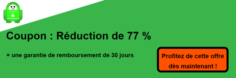 pia vpn coupon bannière 77% de réduction