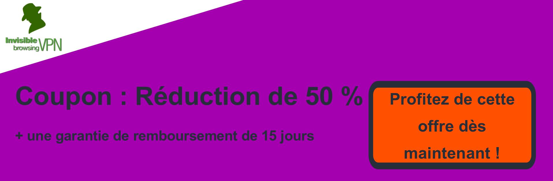 Bannière de coupons ibVPN - 50% de réduction