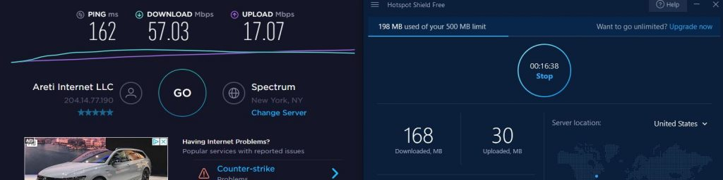 Free Hotspot Shield Speed Test