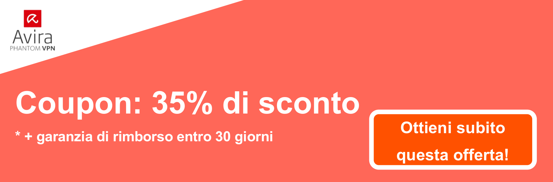 Banner coupon AviraVPN - 35% di sconto