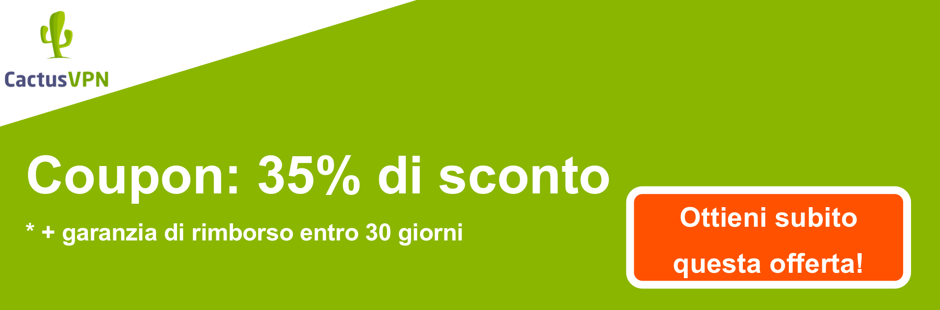 Banner coupon CactusVPN - 38% di sconto