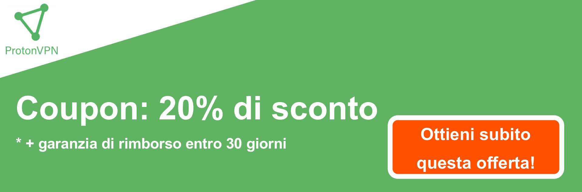 Banner coupon ProtonVPN - 20% di sconto