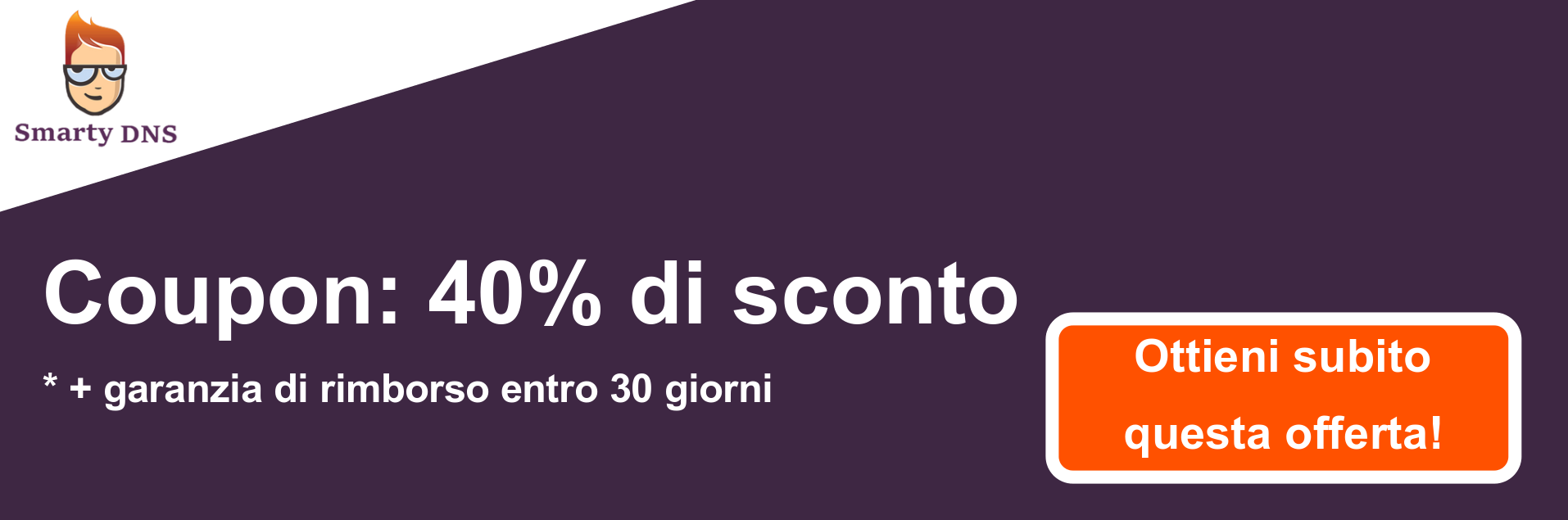 Banner coupon SmartyDNS - 40% di sconto