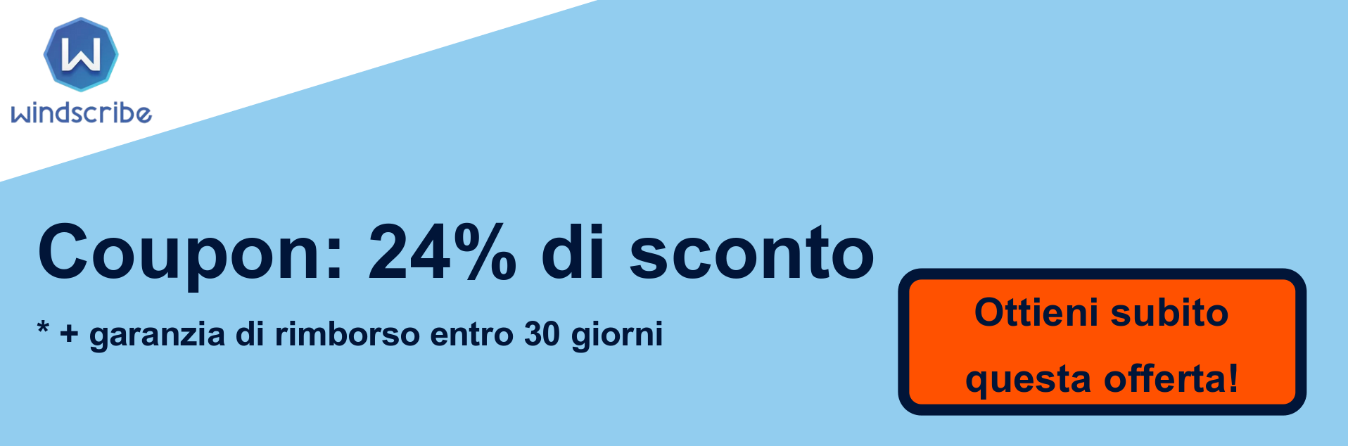 Banner coupon VPN WindScribe - 24% di sconto