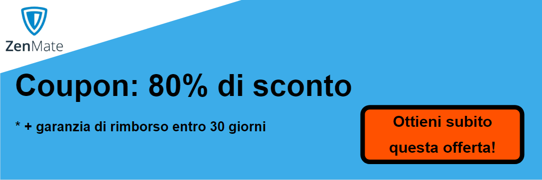 Coupon ZenMate: 80% di sconto