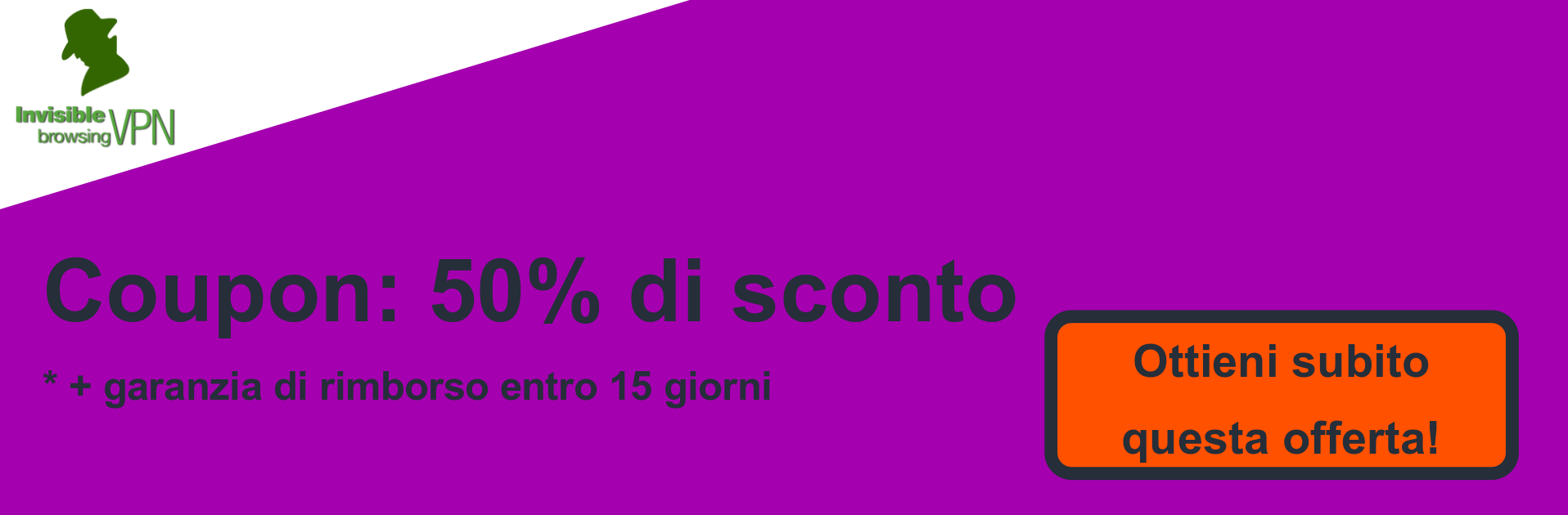 Banner coupon ibVPN - 50% di sconto