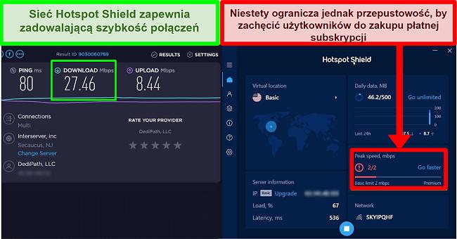 Hotspot Shield ogranicza szybkość motywowania użytkowników do subskrypcji