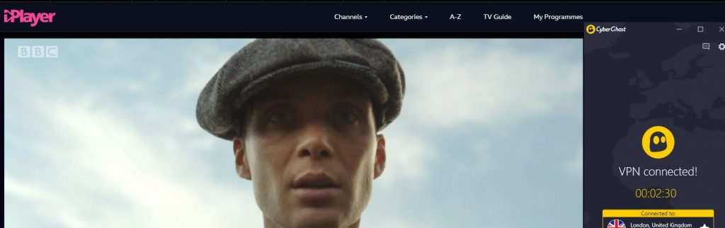 Peaky Blinder iPlayer CyberGhost