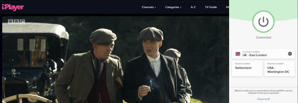 Peaky Blinder iPlayer ExpressVPN