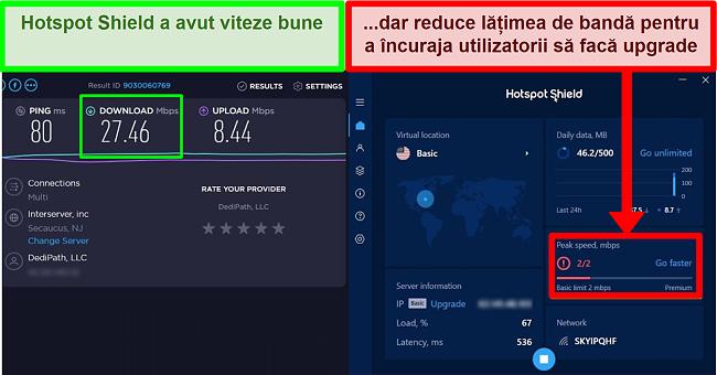 HotspotShield limitează viteza pentru a motiva utilizatorii să subscrie
