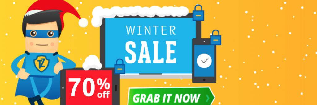 70% off in Trust Zone VPN winter sale