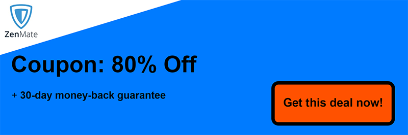 80% off Zenmate Coupon
