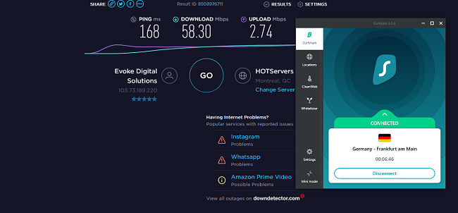 Surfshark germany speed test