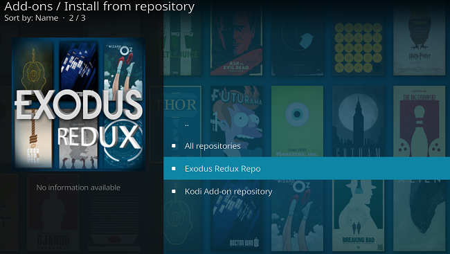 Kodiアプリリポジトリのスクリーンショット