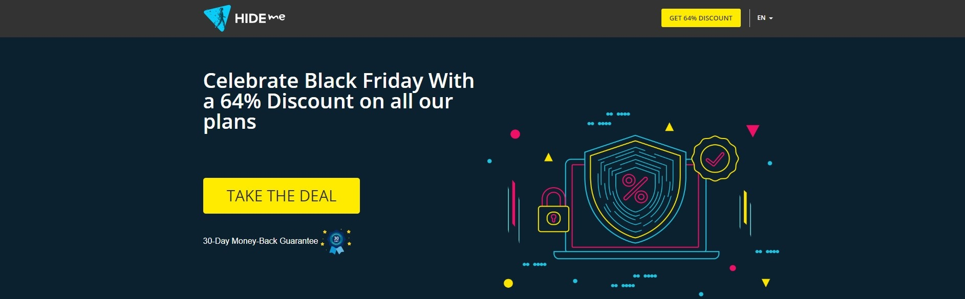 hide.me Black Friday Cyber Monday deal