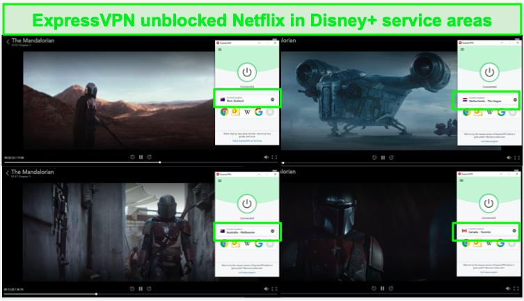 ExpressVPN's servers can access Disney+ in its service areas.
