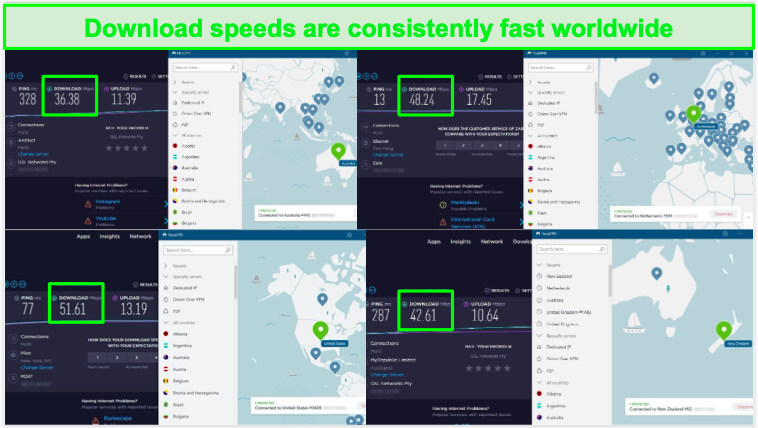 NordVPN has fast download speeds when connected to servers in Disney+ locations.