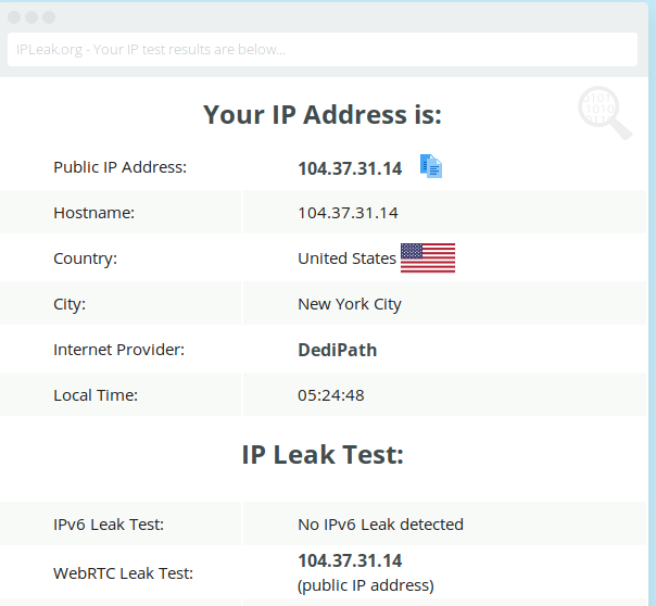 NordVPN and ExpressVPN IP Leak Test 1