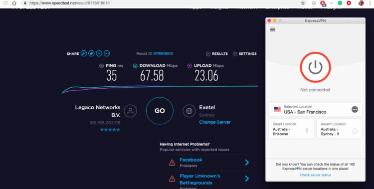Internet Speed Test without VPN