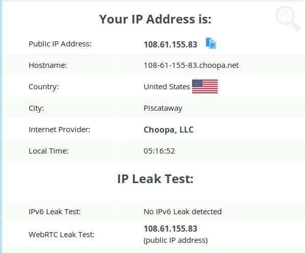 NordVPN and ExpressVPN IP Leak Test 2