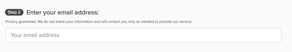 Cuplikan layar halaman pembayaran ExpressVPN dengan kotak konfirmasi alamat email