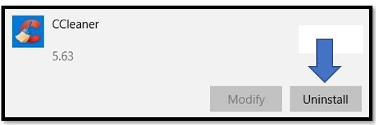 CCleaner yazılımını kaldır