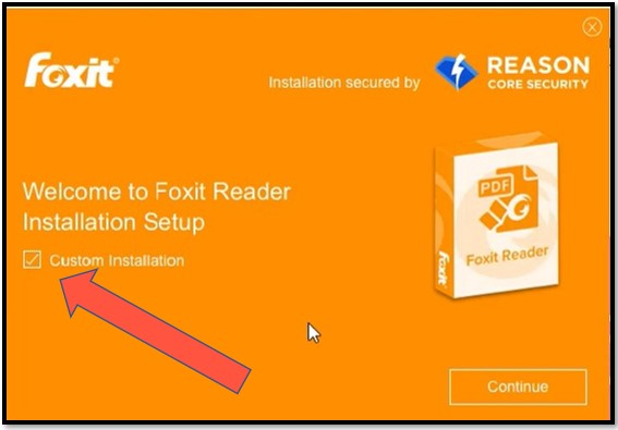 Foxit Custom installation