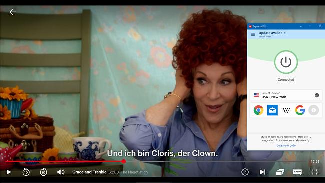 Screenshot von