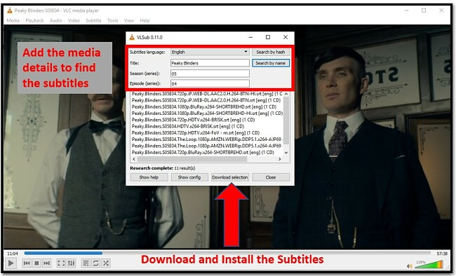 Download Subtitle with VLC